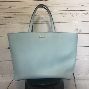 Kate spade baby blue large cow leather tote